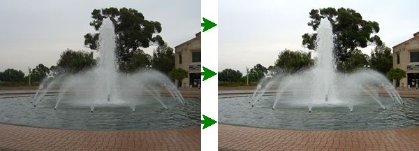 See Digital Photo Finalizer improve this photo of a fountain