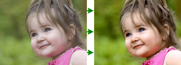 See Digital Photo Finalizer's skin tone make this toddler's photo look perfect